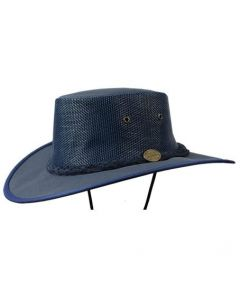 NHVR Hat, canvas, wide brim, mesh side, Drover 1057