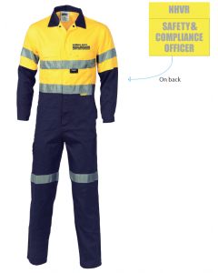 NHVR 3855 Hi Vis Cotton 2 Tone Coverall